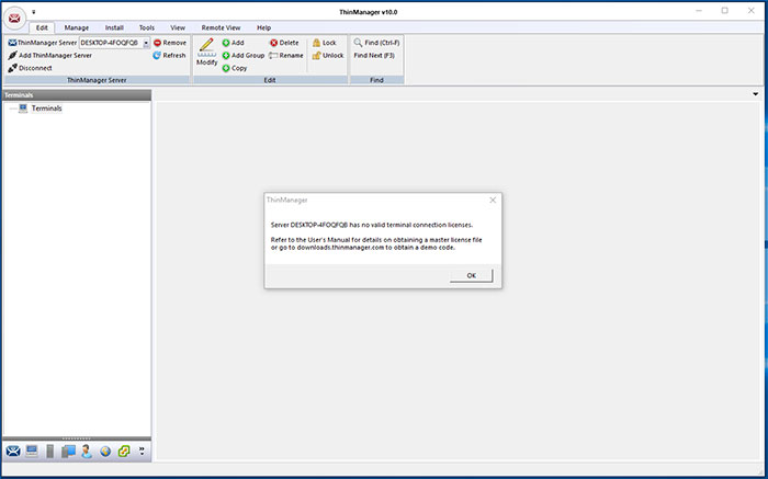 Activating Your License   ThinManager ®