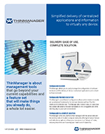 datasheet for thinmanager general