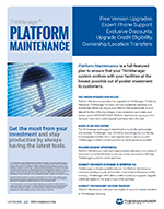 datasheet for platform maintenance